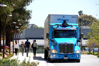 Waymo Road Testing a Peterbilt Class 8 truck in Silicon Valley